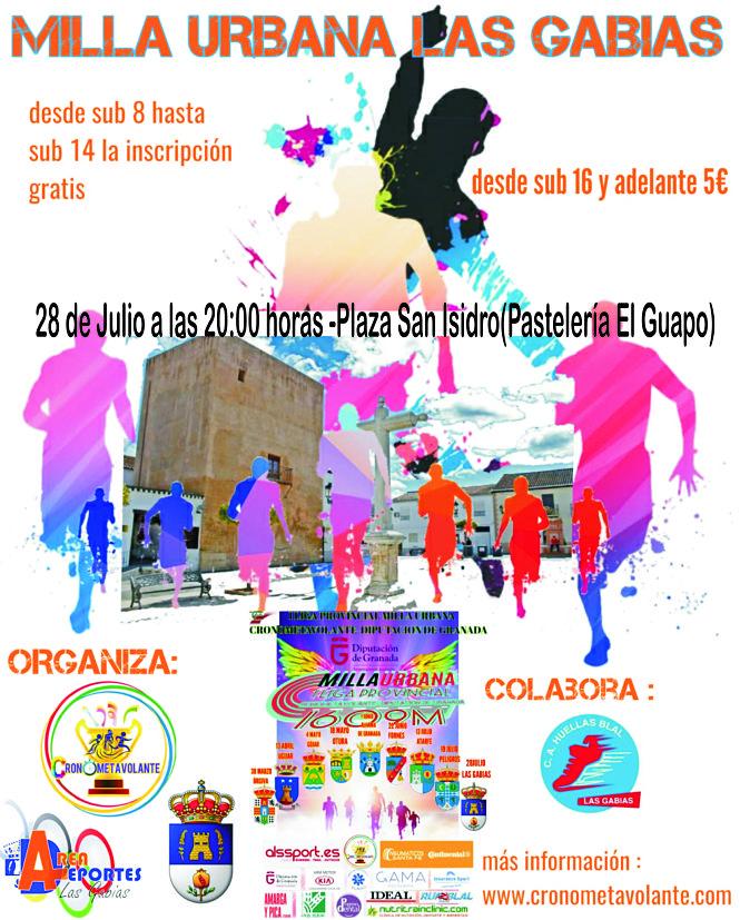 """El 28 de Julio se celebrará la """"IV Milla Urbana Las Gabias"""""""