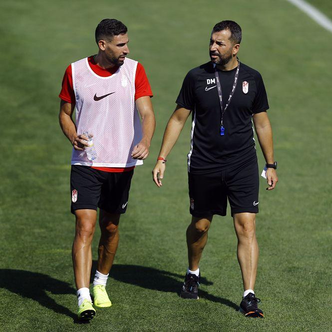 """Diego Martínez: """"En líneas generales estoy bastante contento por el partido"""""""