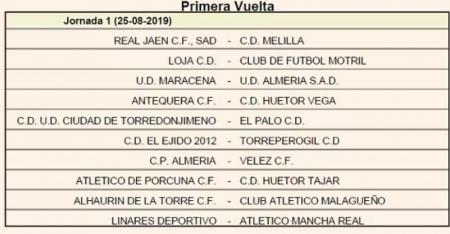 Primera jornada del Grupo IX de Tercera División (RFAF)