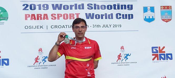 Melitón Briñas, subcampeón de la Copa del Mundo de Foso Olímpico