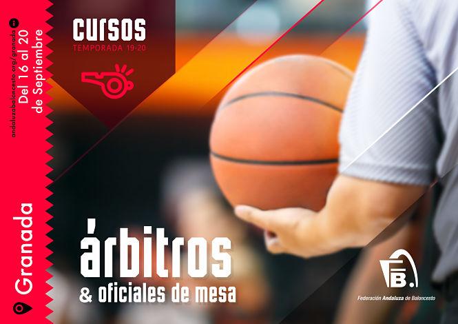 FAB Granada organiza el I curso de Árbitro y Oficial de mesa de baloncesto