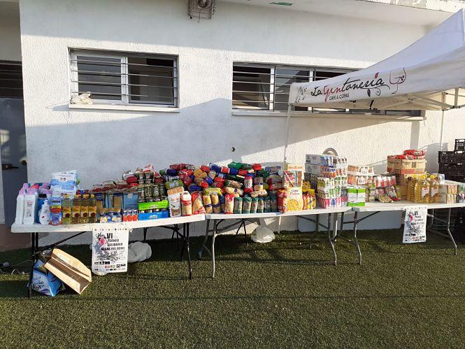 Un torneo solidario de fútbol en Vegas del Genil recauda 1.200 kilos de alimentos para los más necesitados