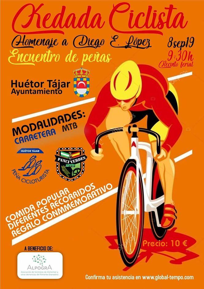 Peñas ciclistas de toda la provincia rendirán homenaje  a Diego López en Huétor Tájar