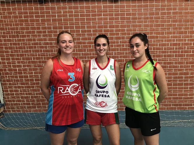 Las juniors Martínez, Vigo y Westerdijk, realizan la pretemporada con el Grupo Hafesa Raca