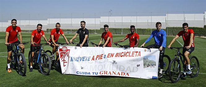 El Granada CF se suma al uso del transporte alternativo en la Semana Europea de la Movilidad