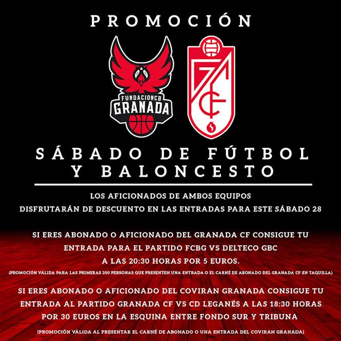 Promoción para los encuentros del Coviran Granada y el Granada CF