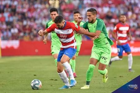 Antonio Puertas hizo el único tanto del partido (JOSÉ M. BALDOMERO)