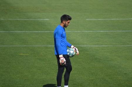 Rui Silva durante un entrenamiento (GRJ)
