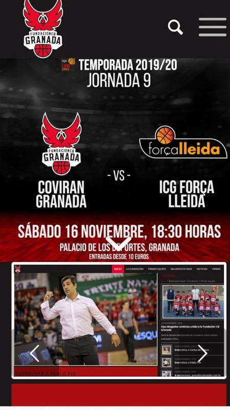 Portada de la web de la Fundación CB Granada (FUNDACIÓN CB GRANADA)