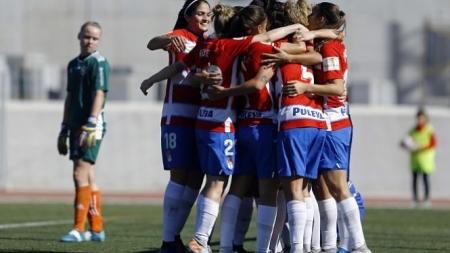 El Granada Femenino celebra uno de los goles (GRANADA CF)
