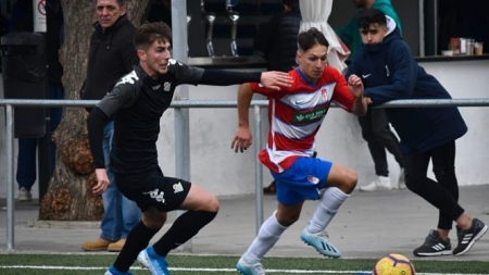 Bryan Zaragoza durante un partido con el juvenil (GRANADA CF)